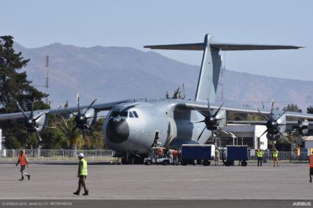 Uno de los A400M españoles este mes en FIDAE, Chile.