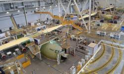 Los tres priemros A400M que se entregarán, en 2013, se encuentran ya en las fases finales de su montaje en Sevilla