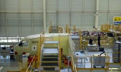 Sección delantera del primer Airbus Military A400M grizzly para Turquía.