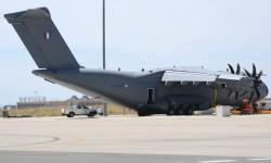 El tercero de los Airbus Military A400M durante sus pruebas en Sevilla antes de su entrega.