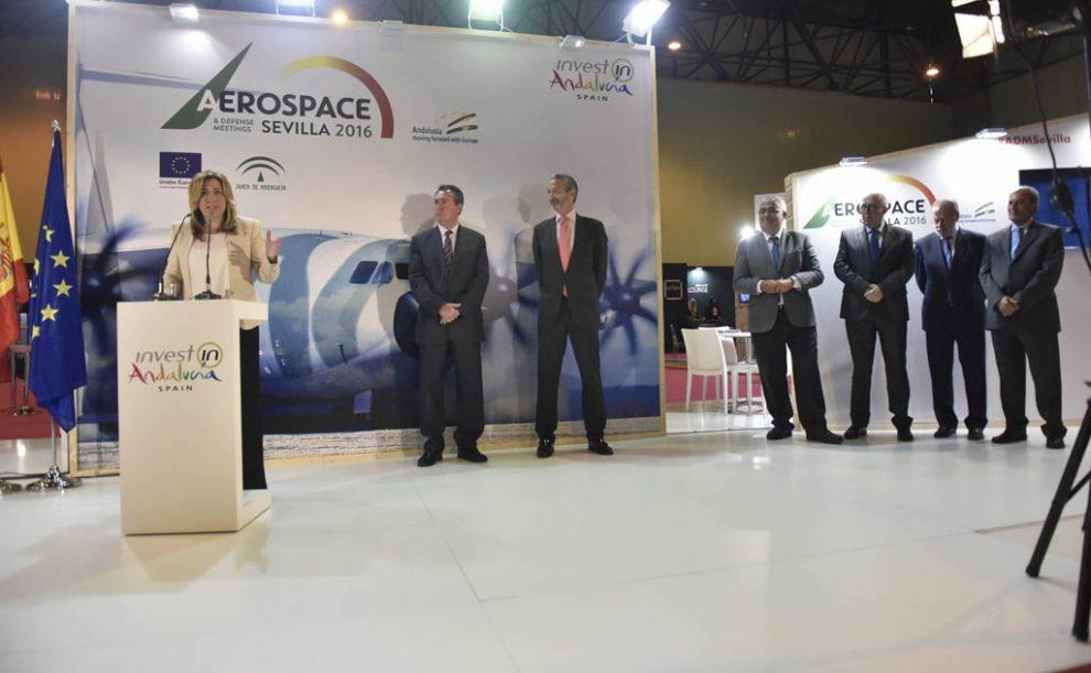 La presidenta de la Junta de Andalucia, Susan díaz, en la inauguración de ADMSevilla 2016.