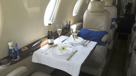 Interior del Cessna Citation XLS.