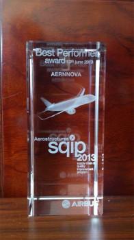 Aernnova galardonada por Airbus como uno de los mejores proveedores de aeroestructruas