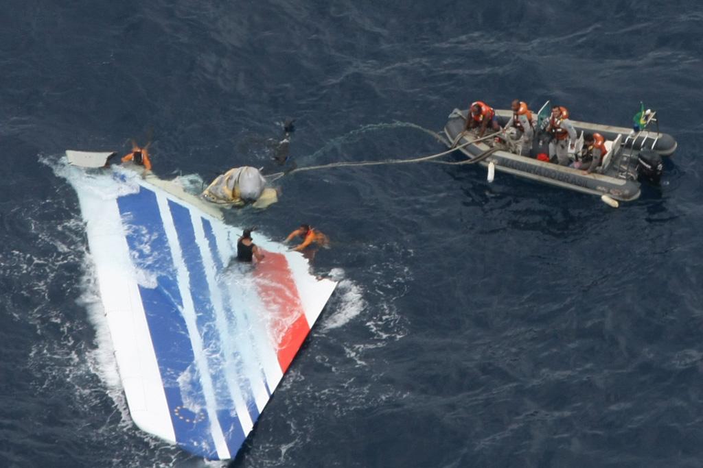 Rescate de la deriva del A330 F-GZCP