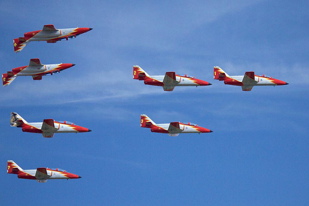 Los aviones de la Patrulla Águila se eligen entre los que tienen un menor historial de averías.