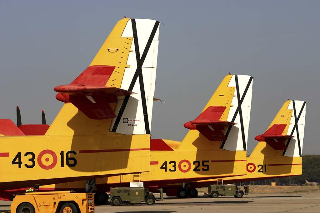 Torrejón es la base del Grupo 43. La unidad aprovecha el invierno para el mantenimiento pero siempre hay al menos dos aviones listos para actuar.