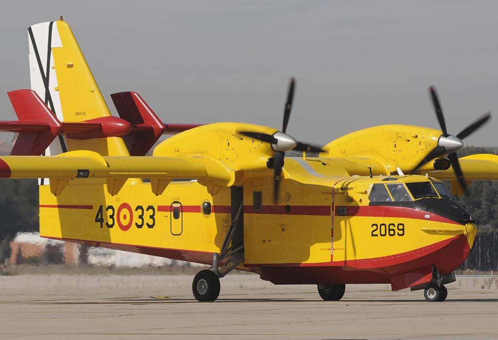 Los CL-415 del Grupo 43 están entre los últimos de este modelo que fueron construidos.