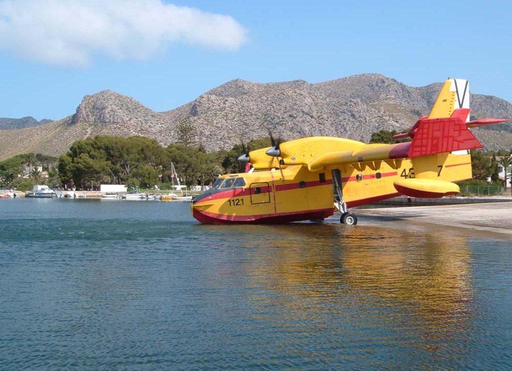 La base aérea de Pollensa (Mallorca) es la única que hoy en día sigue contando con una rampa para hidroaviones para el acceso directo de la plataforma al agua.
