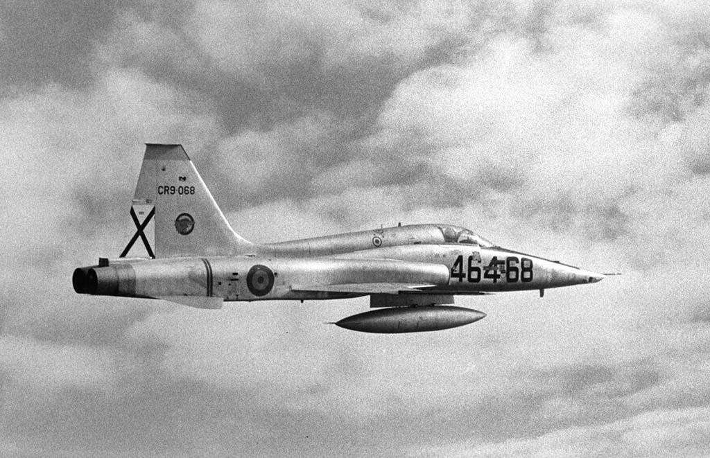 Uno de los RF-5A del Ala 46 de la base aérea de Gando.