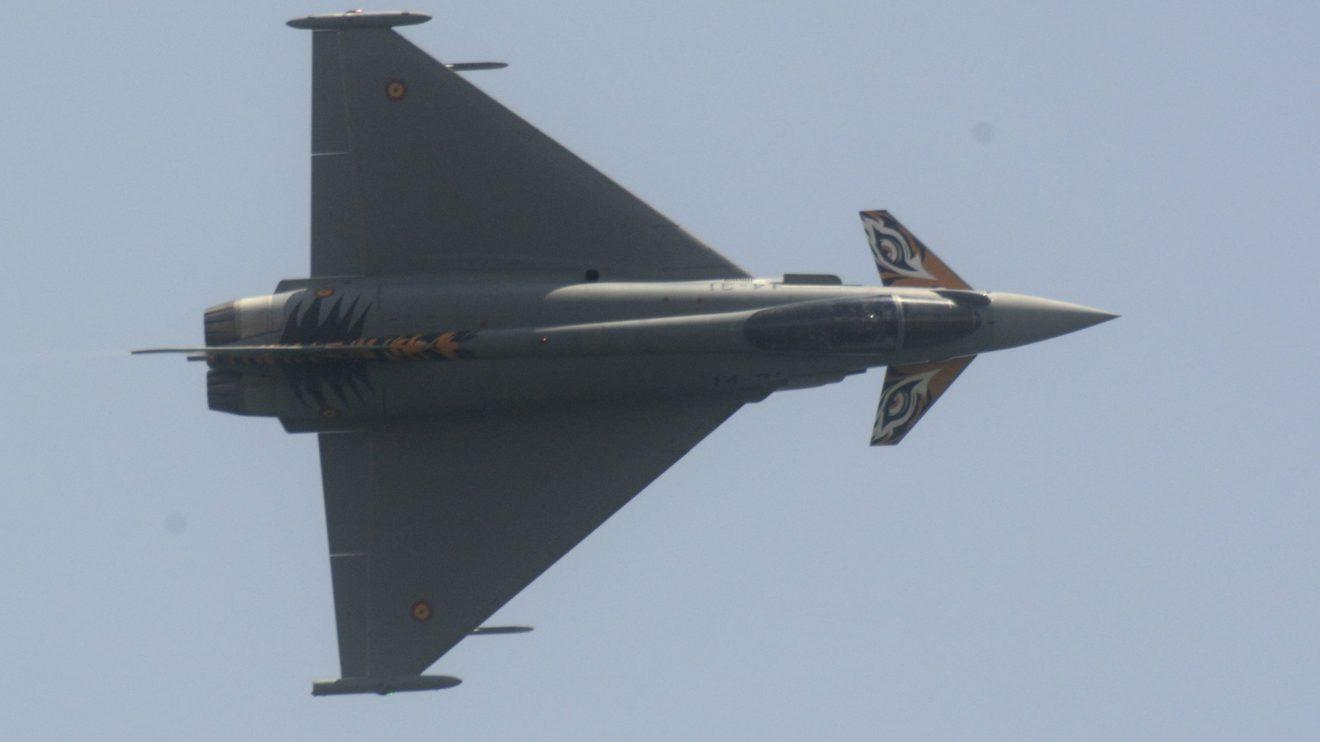 El ALa 14 de Los LLanos llevó su Eurofighter Tigre que hizo una excelente demostración.