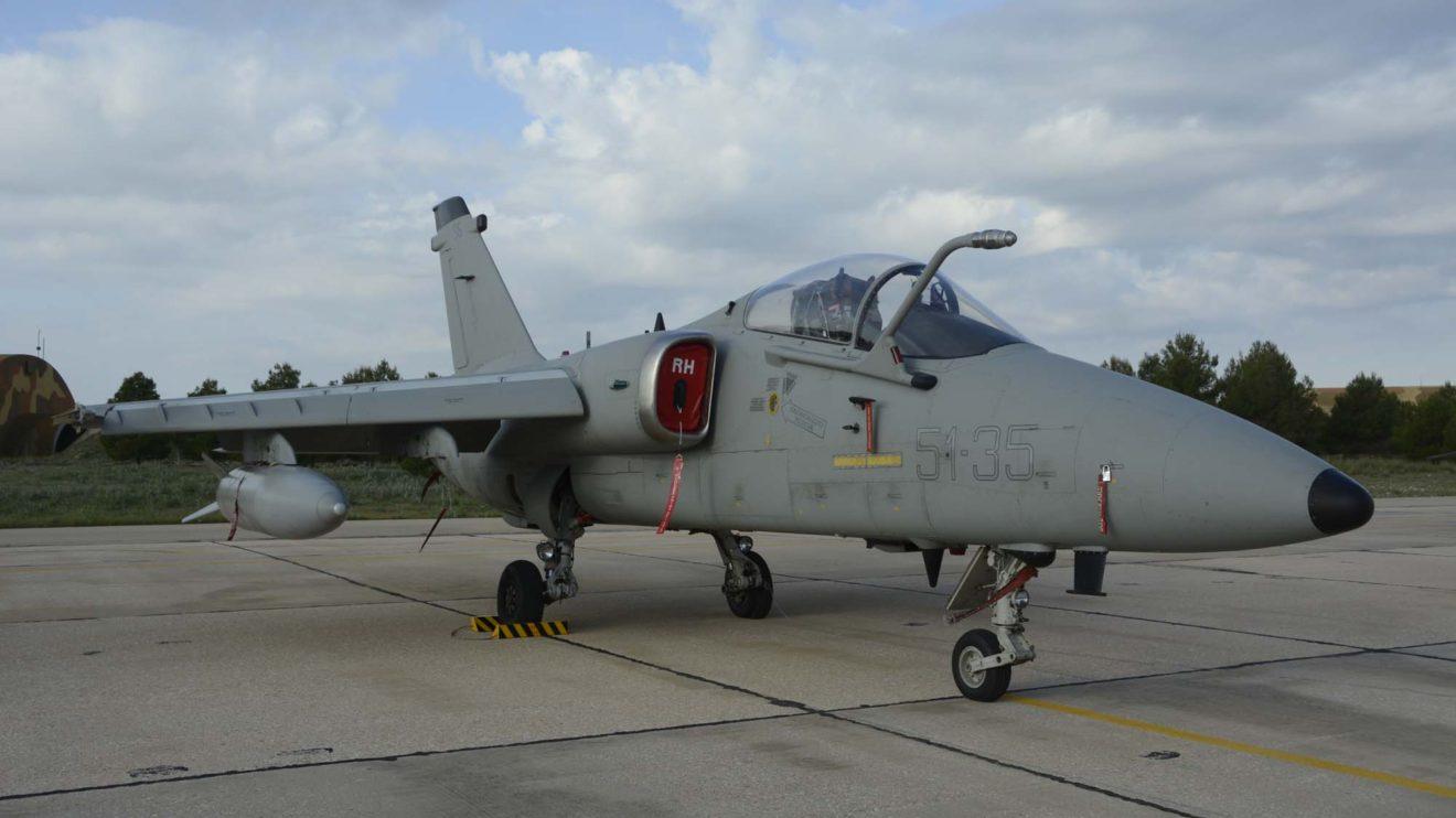 El avión ligero de ataque AMX de la Aeronáutica Militar italiana es un habitual de los cursos TLP. Este ejemplar es del 6 Stormo.