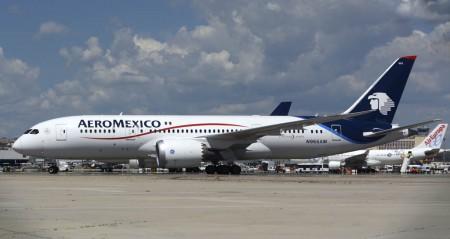 Boeing 787-8 de Aeroméxico en Madrid