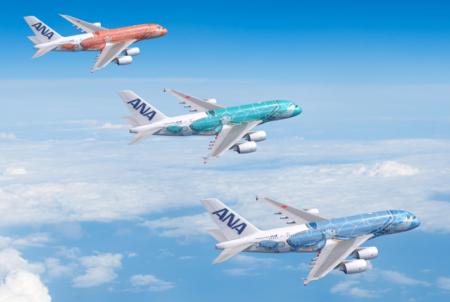 ANA decorará sus tres Airbus A380 en otros tantos colores que representan a Hawaii.