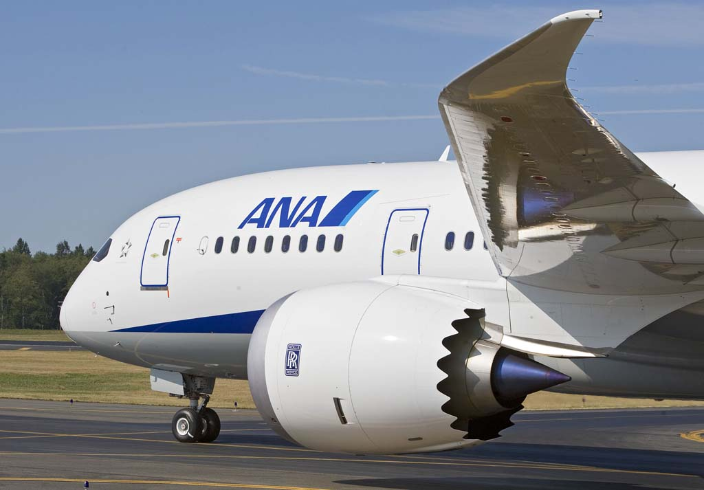 Los motores Rolls-Royce Trent de los Boeing 787 de ANA son de uno de los primeros estándares de producción. Los más nuevos no están afectados por el problema de estos.
