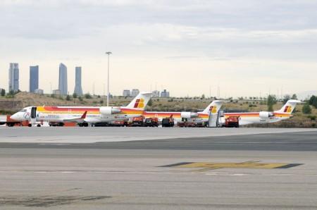 Aviones de Air Nostrum en Barajas