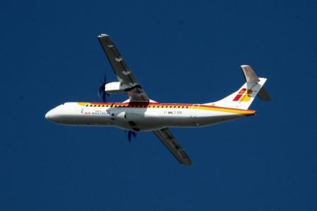 Despegue en su primer vuelo delATR 72-600 de Air Nostrum (foto Gorkano.fr)