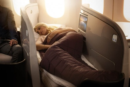 Asiento de Business Premier de Air New Zealand.