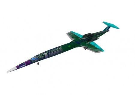 El diseño aerodinámico del Aerion AS2 recuerda en gran medida al del caza Lockheed F-104 Starfighter.