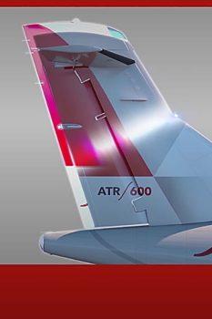 Comparación entre el timón del ATR 42-600 y del ATR 42-600S.
