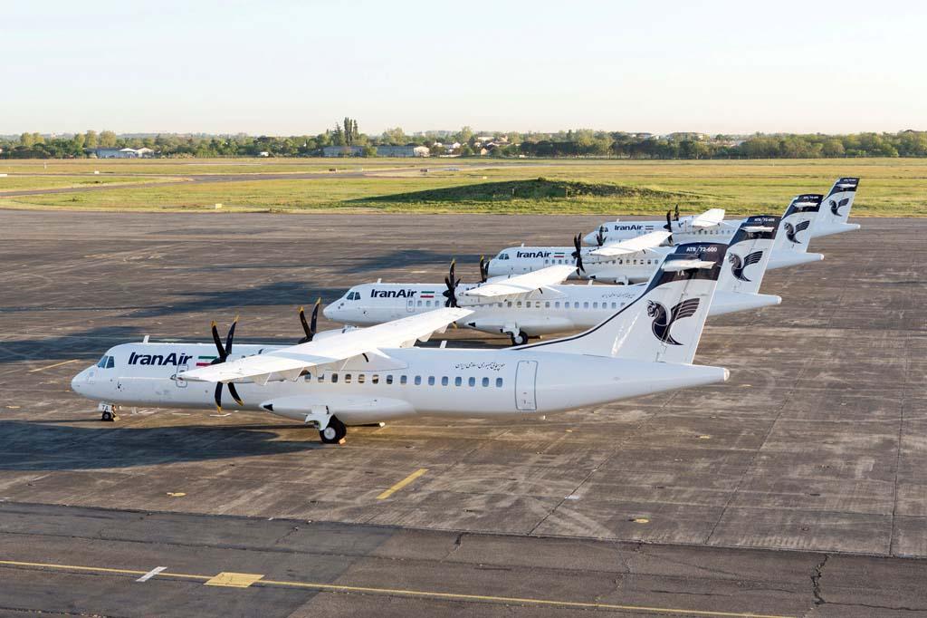Los cuatro primeros ATR 72-600 de Iran Air poco antes de su entrega.