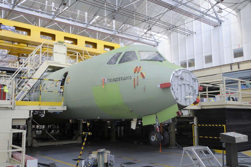 Cadena de montaje de ATR en Toulouse.