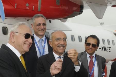 Entrega del primer ATR 72 de Avianca en Le Bourget