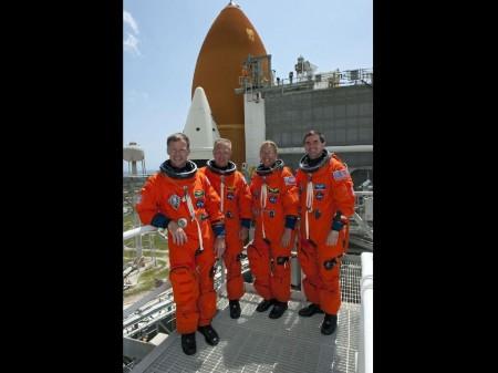 Los cuatro tripulantes de la última misión del Atlantis