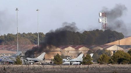 La investigación apunta a un fallo en los mando como causa del accidente del F-16 griego en Albacete