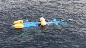 El Dauphin de Aduanas accidentado poco antes de hundirse.