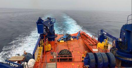 A bordo del Clara Campoamor de Salvamento Marítimo.