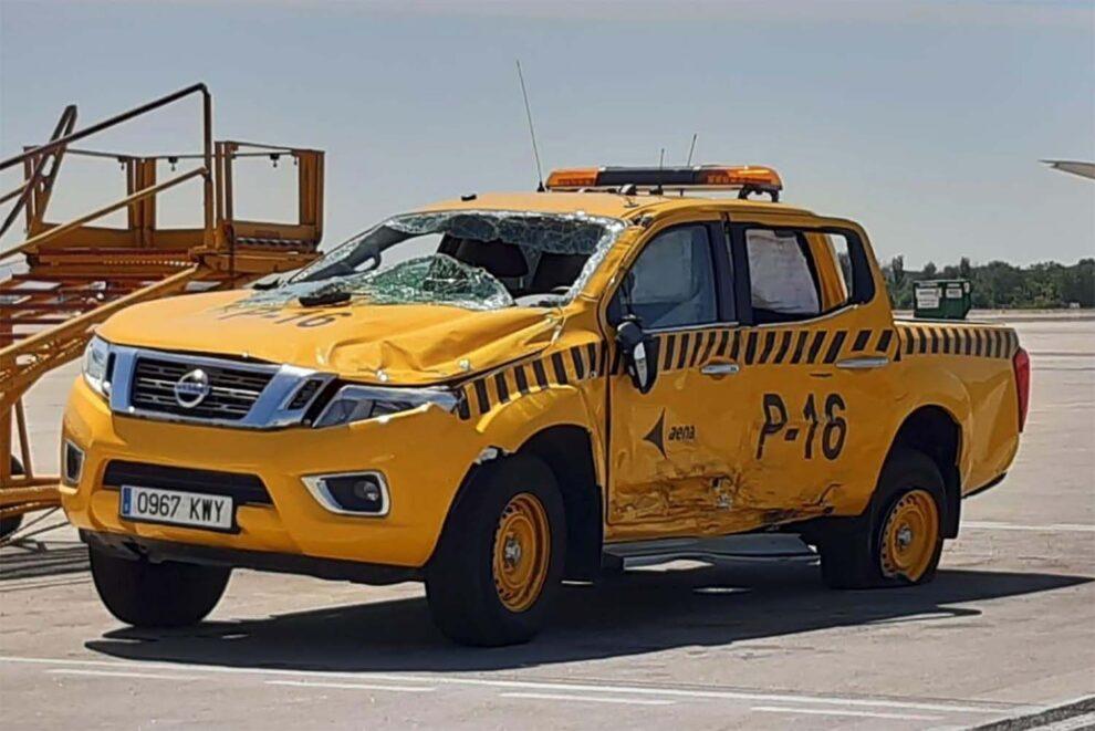 Entre otros muchos objetivos del nuevo curso de seguridad está evitar los accidentes de tráfico dentro de los aeropuertos.