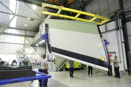 Aciturri entrega a la FAL de Airbus en Toulouse los primeros conjuntos de su responsabilidad par el nuevo Beluga XL.