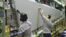 Aciturri trabaja para los principales fabricantes de aeronaves. En la foto elevador para los Dassault Falcon 7X y Falcon 8X.