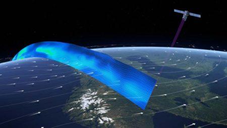 Perfiles de viento a nivel mundial, que serán analizados por Aeolus.