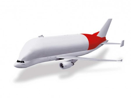 En rojo la parte del Beluga XL que desarrollará y construirá Aernnova
