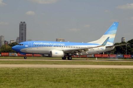 Boeing 737 de Aerolíneas Argentinas.