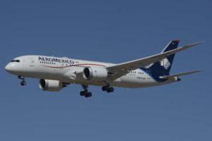 Aeroméxico cuenta con 16 Boeing787 (9 B-787-8 y 7 B-787-9) con los que vuela a América, Asia y Europa.