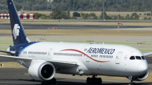 Boeing 787 de Aeroméxico en el aeropuerto de Madrid Barajas.