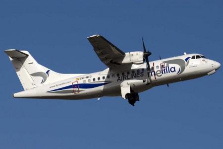 ATR 42 de Aeronova operando para Air Melilla (foto Diego Ruiz de Vargas)