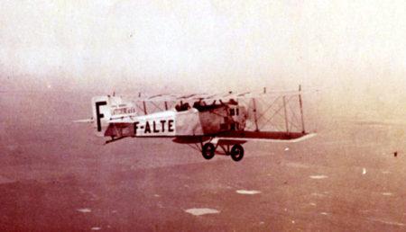 Breguet 14, uno de los primeros aviones correo de L'Aeropostale y su filial, Aeroposta, en Argentina.