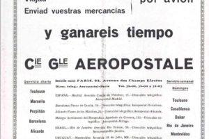 Anuncio de Aerpostale en la revista Alas de 1930.