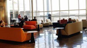 Sala de espera en el aeropuerto de Gran Canaria.