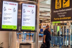 Aeropuerto de Barcelona El Prat durante la crisis del COVID-19.