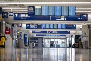 El aeropuerto de Chicago O'Hare, vacío.