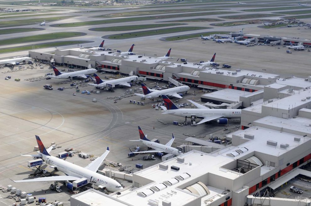 Aviones de Delta en el aeropuerto de Atlanta.