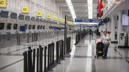 Esta será la imagen normal de muchos aeropuertos durante mucho tiempo.