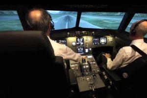 Cabina del simulador Entrol A32 de Aerotec.