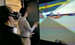 Pruebas en la sala 3D de Airbus en Filton del diseño de factoría realizado por Aertec Solutions.