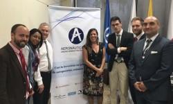 Responsables de Aertec, UG21 y del aeropuerto de Rionegro tras la firma del contrato.