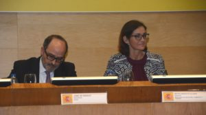 Jaime de Rábago y Reyes Maroto en la presentación de la Agenda Sectorial de la Industria .